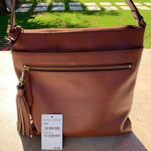 Brown Cross-Body Bag